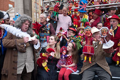 I professori di Judy e del punzone celebrano a Londra Fotografia Stock