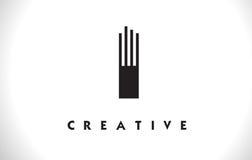 I progettazione di Logo Letter With Black Lines Linea vettore Illust della lettera Royalty Illustrazione gratis
