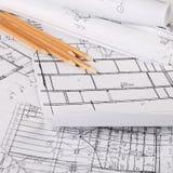 I progetti delle case un fondo Immagine Stock Libera da Diritti