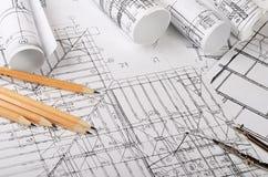 I progetti delle case un fondo Immagini Stock