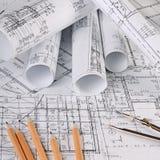 I progetti delle case un fondo Fotografia Stock