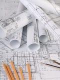 I progetti delle case un fondo Immagini Stock Libere da Diritti