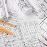 I progetti delle case un fondo Immagine Stock