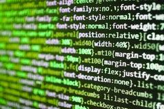 I project manager lavorano la nuova idea Primo piano del Javascript immagini stock