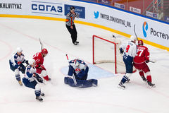 I. Proskuryakov (73) save the gate Stock Image