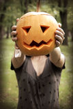 I am a pumpkin girl Stock Photos