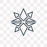 I punti cardinali sui venti star l'icona di vettore isolata sopra transparen illustrazione di stock