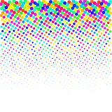 I punti colourful su un fondo bianco illustrazione di stock