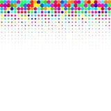 I punti colourful su un fondo bianco royalty illustrazione gratis