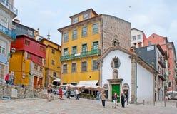 I punti di riferimento all'argine di Oporto Fotografie Stock