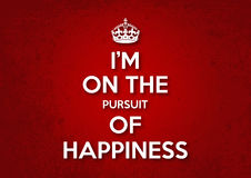 I am on the pursuit of happiness Stock Photo