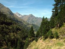 I Pyrenees in Francia immagine stock libera da diritti