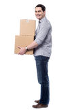 I am in Q to book these parcels. royalty free stock images