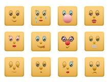 I quadrati di smiley hanno impostato 1 Immagini Stock Libere da Diritti