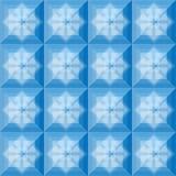 I quadrati modellano il fondo blu Immagini Stock Libere da Diritti