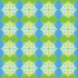 I quadrati modellano il fondo blu e verde Fotografie Stock