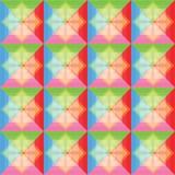 I quadrati modellano il fondo variopinto Fotografia Stock