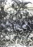 I quattro cavalieri apocalittici Fotografia Stock Libera da Diritti