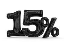 I quindici per cento neri hanno fatto dei palloni gonfiabili Insieme delle percentuali 3d royalty illustrazione gratis