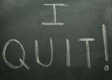 I Quit! Stock Images