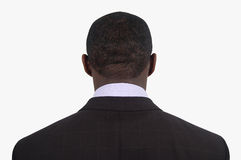 I Quit. This is an image of a businessman with his back facing the camera. Metaphor for quitting Stock Photo