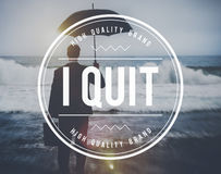 I Quit Leaving Resigning Inspire Concept stock photos