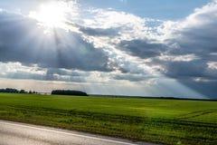 I raggi del ` s del sole da Fotografie Stock Libere da Diritti