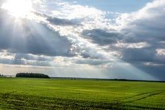 I raggi del ` s del sole da Fotografia Stock Libera da Diritti