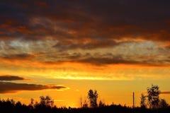 I raggi del sole al tramonto. 2 Immagine Stock Libera da Diritti