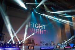 I raggi di luce ornano la scena Fotografia Stock