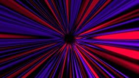 I raggi misteriosi astratti scavano una galleria, muovendosi nello spazio ed il tempo, distorsione di spazio, 3d rende illustrazione di stock