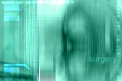 I raggi X verdi gradicono l'illustrazione medica della priorità bassa di chirurgia. Fotografie Stock Libere da Diritti