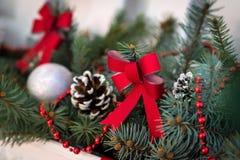 I rami delle decorazioni attillate di Natale Immagini Stock