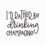 I rather drinking champagne shirt quote lettering. royalty free illustration