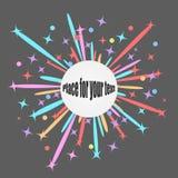 I razzi dei fuochi d'artificio esplodono alle stelle variopinte Progetti l'elemento su fondo scuro isolato con spazio per testo V royalty illustrazione gratis