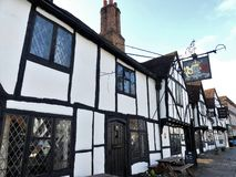 I re Arms Hotel in vecchio Amersham che ha caratterizzato in molti programmi e nei film della TV compreso gli omicidi di Midsomer fotografia stock