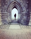 I reached the top. Glastonbury Tor, Somerset Stock Photo