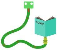 I read comics Royalty Free Stock Photo