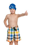 I am ready for swimming! Stock Image