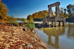 I remainings di un ponte Fotografia Stock