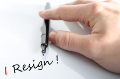 I Resign Concept Royalty Free Stock Image