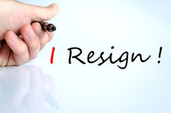 I Resign Concept Stock Images