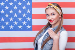 I respect United states of America Royalty Free Stock Photos