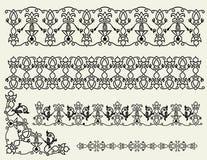 I reticoli, i bordi e l'angolo celtici Fotografia Stock Libera da Diritti