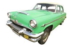 I retro anni 50 verdi dell'automobile Immagini Stock