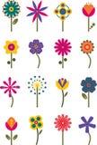 I retro fiori hanno impostato 2 Fotografia Stock