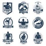 I retro Muttahida Majlis-E-Amal vector gli emblemi e le etichette Logos dell'annata del club di lotta illustrazione di stock