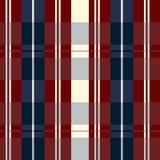 I retro S.U.A. colorano il plaid beige di stile e rosso blu senza cuciture di modo Fotografia Stock