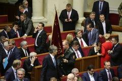 I riassunti ucraini del Parlamento funzionano con il nuovo struttura 27 novembre 2014 Immagine Stock