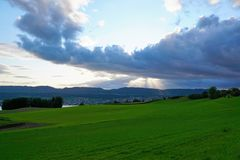 I ricchi del ¼ dello zà del lago nel herrliberg feldmeilen Immagini Stock Libere da Diritti